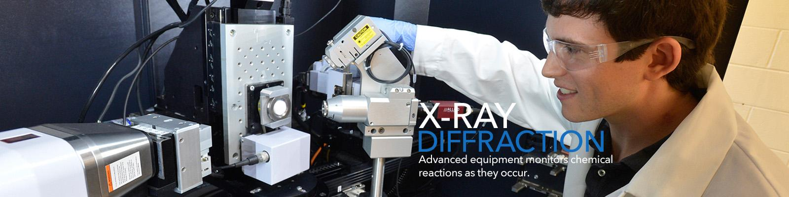 Advanced equipment monitors chemical reactions as they occur.